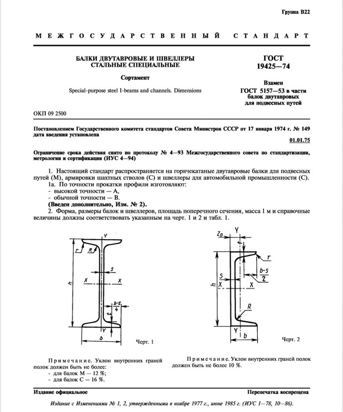 ГОСТ 19425-74 страница 1